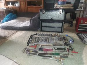 STANLEY ALUMINIUM TOOL BOX WITH TOOLS for Sale in Vancouver, WA