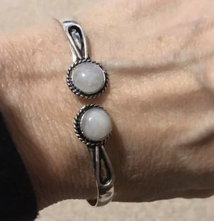 New moonstone sterling silver bangle/bracelet for Sale in Palatine, IL