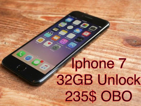 IPHONE 7 32gb Unlock , 235$ OBO