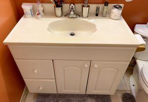 Bathroom vanity, sink, mirror and light fixture for Sale in Falls Church, VA