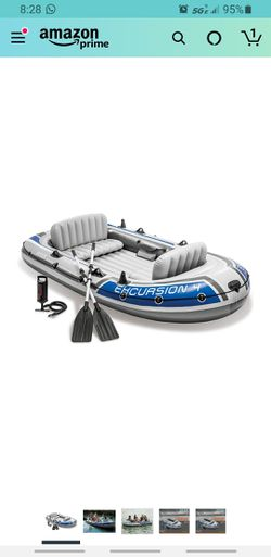 Intex Excursion Inflatable Boat 4 person for Sale in Portland,  OR