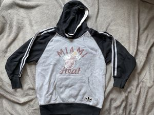 Adidas Miami Heat NBA Hooded Sweater Grade School Size 8 eo for Sale in The Bronx, NY