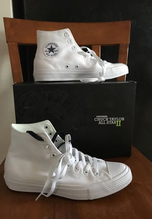 Converse Chuck Taylor All Star II White High Top for Sale in Silver Spring, MD