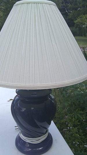 Lamp - Navy Blue/white shade for Sale in Nicholasville, KY
