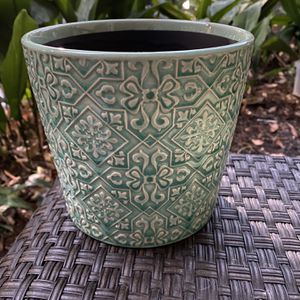 NEW Light Green Patterned Planter Pot for Sale in Los Angeles, CA