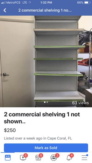 2 commercial shelving have extra boards and shelf's for Sale in Cape Coral, FL