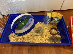 hedgehog kit ... cage, igloo, bottle, plate, food ... for Sale in Miami, FL
