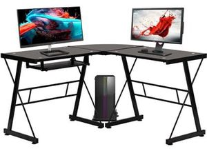 NEW L-Shaped Home Office Computer Desk or Gaming Desk w/Keyboard Tray for Sale in Las Vegas, NV