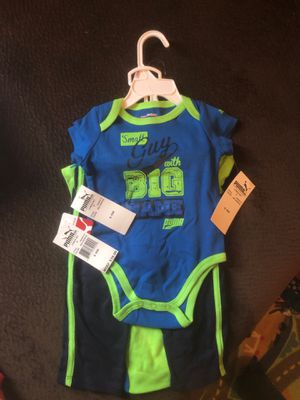 Puma 6-9 month 3-piece onesie pants set for Sale in Madison, WI