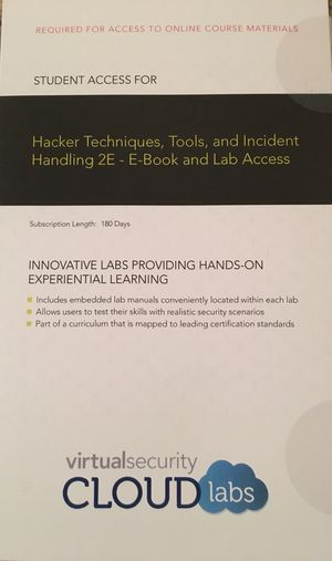 Hacker Techniques, Tools, and Incident Handling 2E - eBook and Lab Access for Sale in Lexington, KY