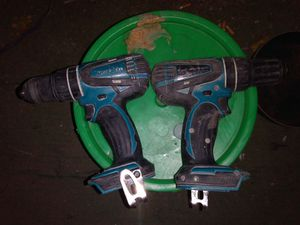 2 Makita Cordless drill (no batteries, no charger) for Sale in Las Vegas, NV