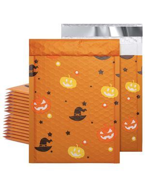 25pcs Halloween Padded Mailers 6x10 Inch Custom Envelopes Mailers Pumpkin Lamp Lined Bubble Mailers Self Seal Lovely Bubble Envelopes for Sale in Monterey Park, CA