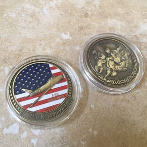 (2) Korean War 1950-1953 Collectible Challenge Coins for Sale in Castro Valley, CA
