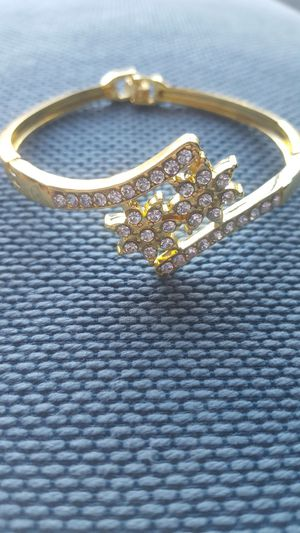 Gold Crystal Bangles set of 3 for Sale in Columbus, OH