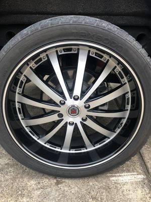 24 red sport rims for Sale in Dallas, TX