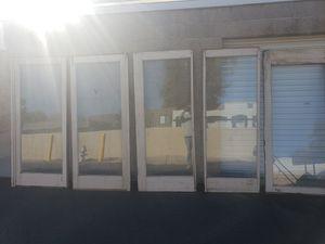 5 ANTIQUE DOORS FULL GLASS for Sale in Tucson, AZ