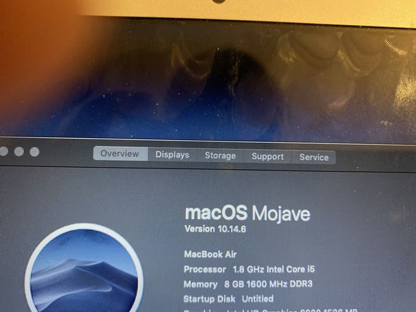 2017 MacBook Air Mojave 251 GB
