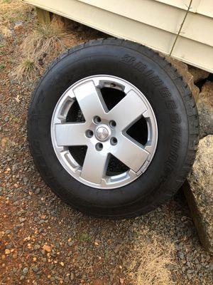 Jeep Wrangler stock rims and tires for Sale in Manassas Park, VA
