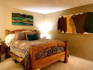 Entire custom hand crafted wood bedroom set - one of a kind. Queen frame. 6 drawer dresser and 3 drawer nightstand for Sale in Seattle, WA