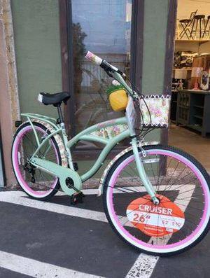 Margaritaville 26″ Pineapple Womens Beach Cruiser Bike in Green for Sale in Mesa, AZ