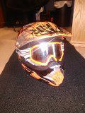 Dirt bike helmet with Googles for Sale in Herriman, UT