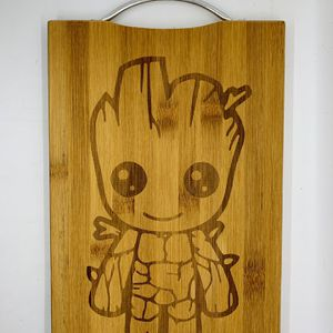 Baby groot laser engraved bamboo high quality cuttingboard valentines gift for Sale in Los Angeles, CA