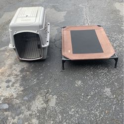 Free Dog Kennel and Dog Bed for Sale in Lynnwood,  WA