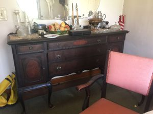 Antique buffet with table 3 leafs 6 chairs for Sale in Hilliard, OH