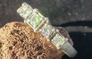 Moissanite 5 Stone Band Ring for Sale in Payson, AZ