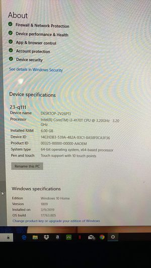 Hp pavilion all in one computer for Sale in Las Vegas, NV