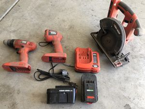 24v 6 piece Black and Decker power tool set. for Sale in Stockton, CA