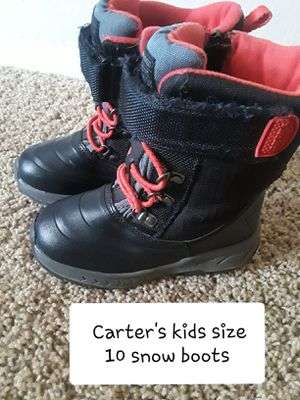 Carter's toddler/kids size 10 snow boots for Sale in Surprise, AZ