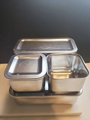 Vintage Doctors Apothecary Mid Century Medical Equipment Stainless Steel Storage Containers Revere Ware for Sale in Cincinnati, OH