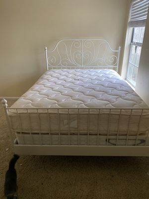 Queen bed with mattress, box and frame for Sale in Alpharetta, GA