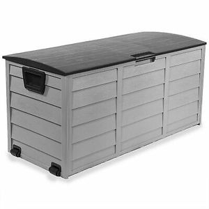 All Weather Box Storage Shed Bin with Wheel Outdoor Use for Sale in Phoenix, AZ