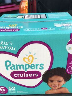 PAMPERS CRUISERS DIAPERS SIZE 6 for Sale in Tacoma,  WA