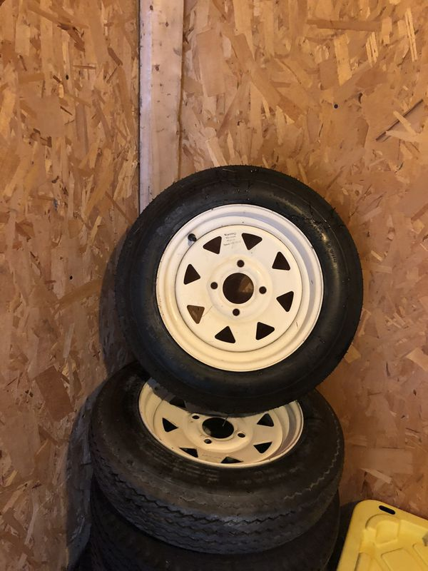 2 tires for trailer 4 holes