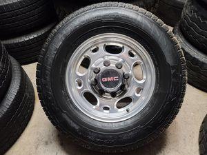 "Wheels and tires lt245/75r16"" 8 lug GMC truck or van in Chevy utility van older Ford 8x6,5 for Sale in Riverside, CA"