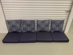 "8 Piece Deep Seating Patio Cushion Set - 24""x24"" - Blue for Sale in Montgomeryville, PA"
