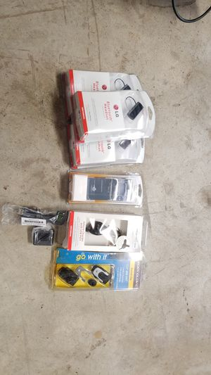 Lot of 3 LG Bluetooth headset, LG phone cover, LG Vehicle USB Charger (micro USB), Motorola micro USB charger, Swivel Clip, best offer for Sale in Houston, TX