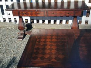 $350-OBO Designer, high end coffee table and side TV table for Sale in Snoqualmie, WA