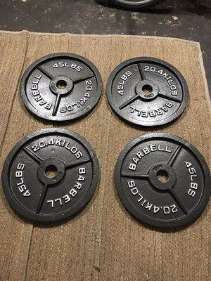 45lb Olympic barbell plates for Sale in Tamarac, FL