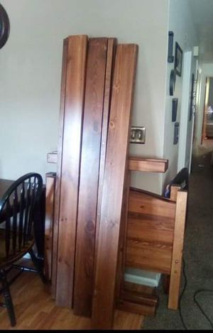 Solid Wood bunk bed with Mattresses for Sale in Salt Lake City, UT