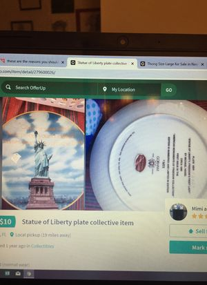 Statue of Liberty plate collectible for Sale in Lutz, FL