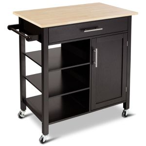 New 4-Tier Rolling Wood Kitchen Trolley Island Storage Cabinet for Sale in Hacienda Heights, CA