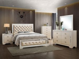 Bedroom set $899 bed dresser mirror nightstand chest for Sale in The Bronx, NY