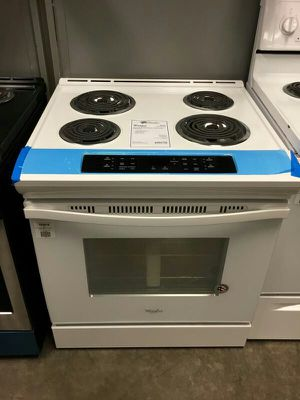 "NEW! Whirlpool White 30"" Slide In Electric Coil Top Range Stove Oven! for Sale in Chandler, AZ"
