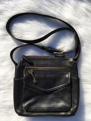Fossil Crossbody Purse Black Glove Leather for Sale in Tacoma, WA