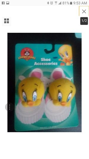Looney Tunes Shoe Accessories, Tweety Bird, 1999 Mint for Sale in Nashville, TN