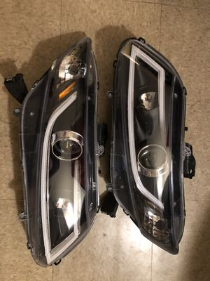 2012-2014 Honda Civic Projector Headlights w/ LED DRL Bar (Chrome Housing/Smoke Lens) for Sale in Reading, PA